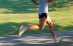 podista in allenamento